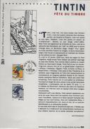 FRANCE 3303 FDC Premier Jour Fête Du Timbre 2000 Encart A4 Gravure TINTIN HERGE KUIFJE Cachet Paris Luxe - Comics
