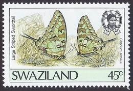 1992 - Larger Striped Swordtail (Graphium Antheus) -  Yt:SZ 606 - MNH - Swaziland (1968-...)