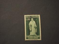 ITALIA REUBBLICA - 1950 D'AREZZO - NUOVO(++) - 1946-60: Mint/hinged
