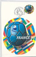 Prêt à Poster Carte Lettre Monde 20g Emballage D´Origine Maxicarte Footix, Coupe Du Monde Football France 98 Ballon - Postal Stamped Stationery