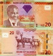 NAMIBIA       20 Dollars       P-12a       2011       UNC - Namibia
