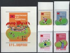 Albania 1984 Mi#2238/41+Blk82 MNH National Sport Spartakiada - Albania