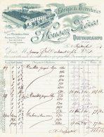 Ancienne Facture Fabrique De Bonneteries  Housez  Quevaucamps 1915 - Bélgica