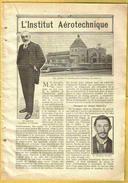 """1914 SAINT CYR - Encart Almanach 17 Photos """"INSTITUT AEROTECHNIQUE"""" - St. Cyr L'Ecole"""