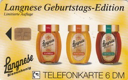 Germany, O 2651-12/94, Card Number 590, Langnese Bienenhonig 4 - Geburtstags-Edition (Puzzle 1/2), Only 3000, 2 Scans.