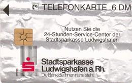 Germany, O 2212-10/94, Card Number 591, Stadtsparkasse Ludwigshafen/Rhein, Only 4000, 2 Scans.