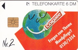 Germany, O 2319-10/94, Card Number 592, Colgate - Zahncreme (Puzzle 2/4), Only 2000, 2 Scans.