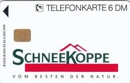 Germany, O 0904-05/93, Card Number 593, Schneekoppe 1 (Frühstücks-Familie), Only 6000, 2 Scans.