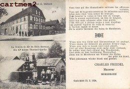 MORSBRONN-LES-BAINS HOTEL RESTAURANT G. URBAN WOERTH 67 ALSACE ESLSASS - Unclassified