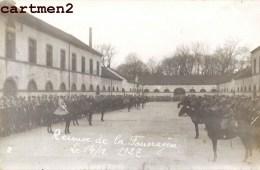 CARTE PHOTO : HAGUENAU REMISE DE LA FOURAGERE CASERNE GUERRE CAVALIER 1927 67 ALSACE ESLSASS