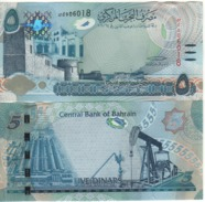 """BAHARAIN  New  5  Dinar   """"just Issued""""   Pnew  (serie  2017)   UNC - Bahrein"""