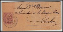 4620/ France Bande Journal Entier Postal Stationery 2c Blanc Marque Calais 1902 - Biglietto Postale