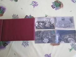 ALBUM AVEC 80 CARTES PHOTO MILITAIRES - Cartes Postales