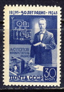 USSR 1945, Mi 965** - 50th Anniversary Of Popov's Radio Discoveries - Nuevos
