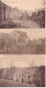 Ruine De Villers La Ville - Lot De 3 Cartes - Villers-la-Ville