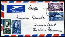 SOUTH WEST AFRICA Cover JAN VON RIEEBEECK Used Windhoek To Sweden 1952 - Medizin