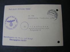Essen Planungsgebiet , Kupferaktion 1944 , Heil Hitler .. - Lettres & Documents