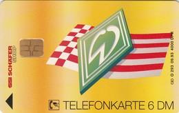 Germany, O 0293-09/93, Card Number 596, Werder Bremen – Deutscher Meister 1993, Only 4000, 2 Scans.
