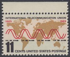 !a! USA Sc# 1274 MNH SINGLE W/ Top Margin - International Telecommunication Union - Etats-Unis