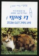 CALENDRIER DE POCHE 2006  - JOLI CHAT TRICOLORE - BAR TABAC LE STELLA - BREST 29  -  FORMAT  PLIÉ : 8 X 11 Cm - Calendars