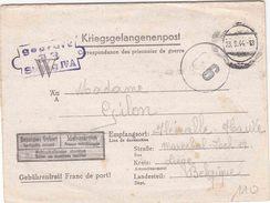"""STALAG : CENSUUR (B) KRIEGSGEFANGENENBRIEF """"ÜBERROLLER""""  Van """"23.9.44"""" """"GEPRÜFT /33 / STALAG IV A"""" (= HOHNSTEIN) + """"86"""" - Guerre 40-45"""