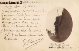 CARTE PHOTO :  LYON ROUTE DE GENAS PRES DU VELODROME FAMILLE G. ROMAIN MODANE  69 RHONE - Lyon 3