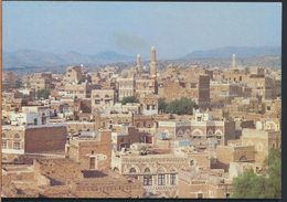 °°° 3782 - YEMEN - OVERVIEW OF THE OLD CITY OF SANA'A - 1997 With Stamps °°° - Yemen