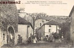 CHARIEZ PRES DE VESOUL VIEILLE CROIX DE PIERRE PLACE DE LA FONTAINE ANIMEE 70 - France