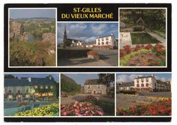 CPSM - SAINT-GILLES-DU-VIEUX-MARCHE - Multivues - Coul - Ann 80 - - Saint-Gilles-Vieux-Marché