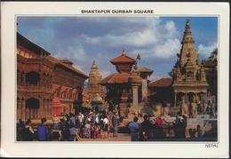 °°° 3783 - NEPAL - BHAKTAPUR DURBAR SQUARE - 1997 With Stamps °°° - Nepal