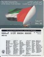 U.A.E. - Flag, Etisalat Prepaid Card Dhs 30(reverse 2b), Used