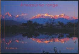 °°° 3784 - NEPAL - ANNAPURNA RANGE - 1998 With Stamps °°° - Nepal