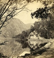 Royaume Uni Ecosse Loch Katrine The East End Anciennne Photo Stereo GW Wilson 1865 - Stereoscopic
