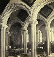 Royaume Uni Durham Cathedrale Lady Chapel Anciennne Photo Stereo GW Wilson 1865