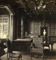 Royaume Uni Ecosse Abbotsford La Bibliotheque Anciennne Photo Stereo GW Wilson 1865