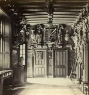 Royaume Uni Ecosse Abbotsford Le Hall Anciennne Photo Stereo GW Wilson 1865