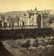 Royaume Uni Ecosse Abbotsford House Le Jardin Anciennne Photo Stereo GW Wilson 1865