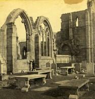 Royaume Uni Ecosse Elgin Cathedrale Fenetre De L'aile Sud Anciennne Photo Stereo GW Wilson 1865