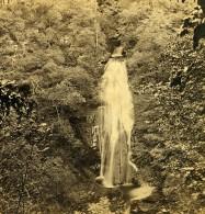 Royaume Uni Ecosse Kenmore Near Aberfeldy Les Chutes De Acharn Anciennne Photo Stereo GW Wilson 1865