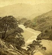 Royaume Uni Lake District Borrowdale Vue Du Border Stone Anciennne Photo Stereo GW Wilson 1865