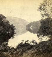Royaume Uni Ecosse Loch Katrine Anciennne Photo Stereo GW Wilson 1865