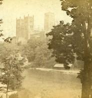 Royaume Uni Durham Cathedrale Vue De La Riviere Anciennne Photo Stereo GW Wilson 1865
