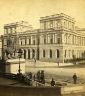 Royaume Uni Ecosse Edimbourg Poste Centrale Anciennne Photo Stereo GW Wilson 1865