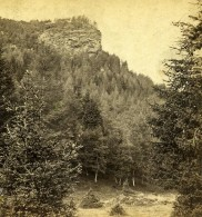 Royaume Uni Ecosse Braemar Invercauld Lion's Face Rock Anciennne Photo Stereo GW Wilson 1865