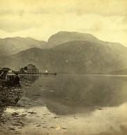 Royaume Uni Ecosse Entrée Du Caledonian Canal Ben Nevis Anciennne Photo Stereo GW Wilson 1865
