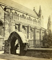 Royaume Uni Cumbria Carlisle Cathedrale Façade Sud Anciennne Photo Stereo GW Wilson 1865