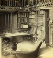 Royaume Uni Ecosse Abbotsford House Le Bureau Anciennne Photo Stereo GW Wilson 1865