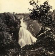 Pays De Galles Llanberis Chutes De Ceunant Mawr Anciennne Photo Stereo Bedford? 1865