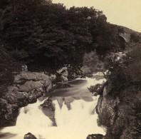 Pays De Galles Capel Curig Pont Y Cyffing Et Chutes Anciennne Photo Stereo Bedford? 1865