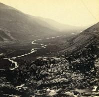 Pays De Galles Capel Curig Nant Ffrancon Anciennne Photo Stereo Bedford? 1865